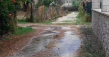 Προβλήματα δρόμους από την βροχή